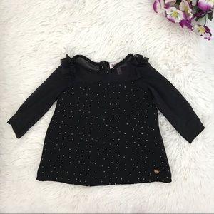 🦋 Juicy Couture Baby Girl Long Sleeve Black Top🦋